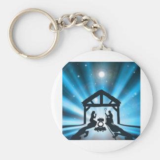 The Christmas Nativity Key Chain