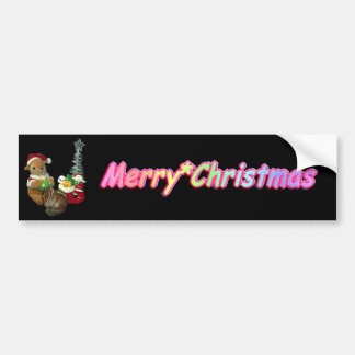 The Christmas of Chimunk's Christmas, squirrel and Bumper Sticker