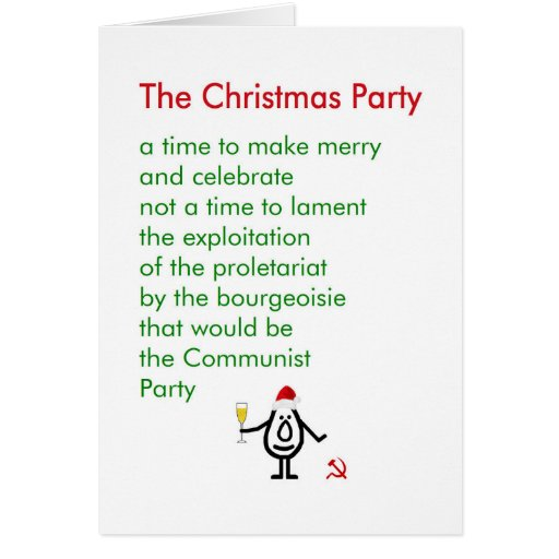 the christmas party   a funny christmas poem greeting card