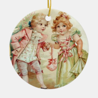 The Christmas Party - Francis Brundage - Customize Ceramic Ornament