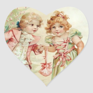 The Christmas Party - Francis Brundage Heart Sticker