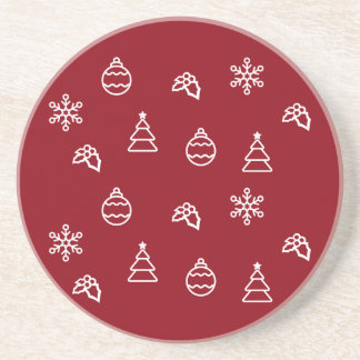 The Christmas Pattern I Drink Coaster