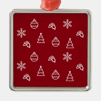 The Christmas Pattern I Metal Ornament