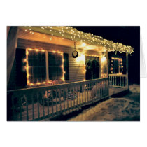 'The Christmas Porch' Holiday Card - Blank