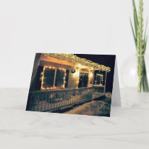 'The Christmas Porch' Holiday Card - Christmas