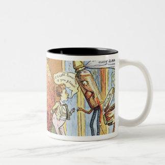 The Christmas Pudding Two-Tone Coffee Mug