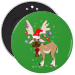 The Christmas Reindeer Button