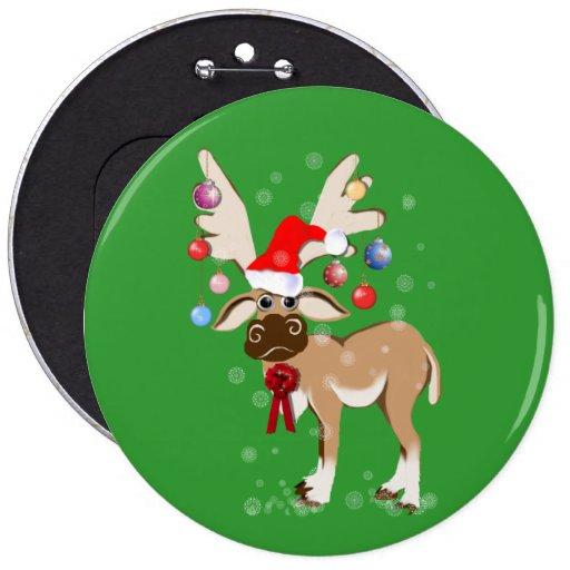 The Christmas Reindeer Button