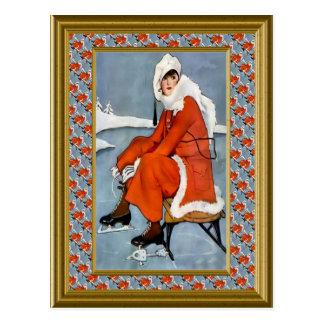 The Christmas skating rink Postcard