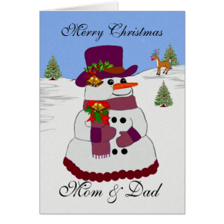 The Christmas Snowman Collection Greeting Card