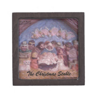 "'THE CHRISTMAS STABLE"" KEEPSAKE BOX"