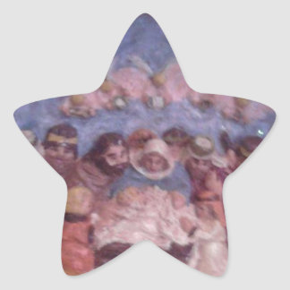 """'THE CHRISTMAS STABLE"""" STAR STICKER"""
