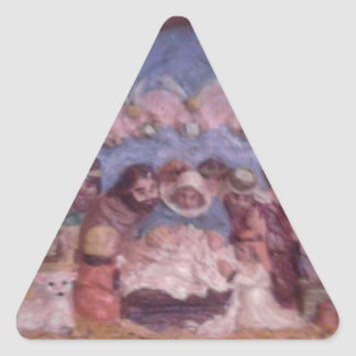 """'THE CHRISTMAS STABLE"""" TRIANGLE STICKER"""