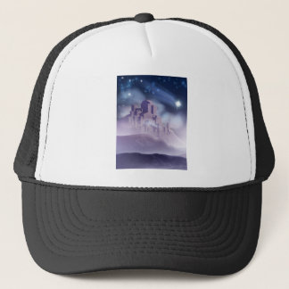 The Christmas Star of Bethlehem Illustration Trucker Hat