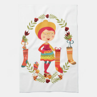 The Christmas Stocking Maker Kitchen Towel