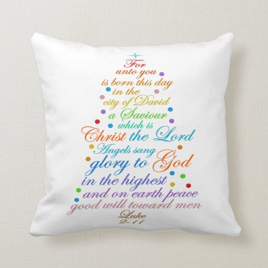 The Christmas Story Bible.The Christmas Story Bible Verse Throw Pillow