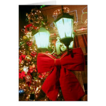 'The Christmas Street Lamp' Card - Old-Fashioned