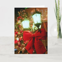'The Christmas Street Lamp' Holiday Card - Blank