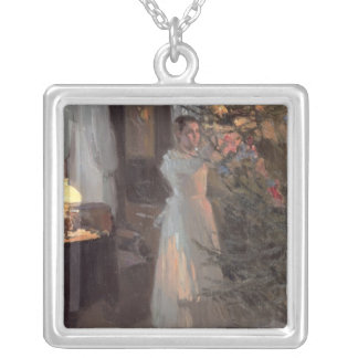 The Christmas Tree, 1910 Silver Plated Necklace