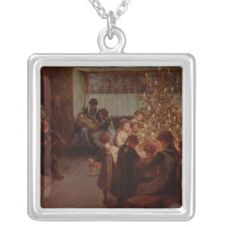 The Christmas Tree, 1911 Silver Plated Necklace