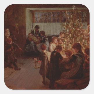 The Christmas Tree, 1911 Square Sticker