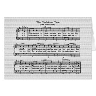 The Christmas Tree Song Greeting Card