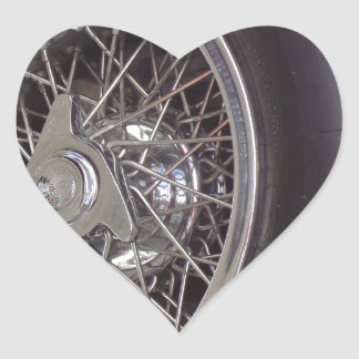 THE CHROME WHEEL HEART STICKERS