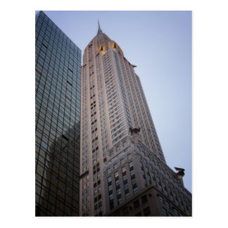 The Chrysler Building at Dusk, New York City Postcard