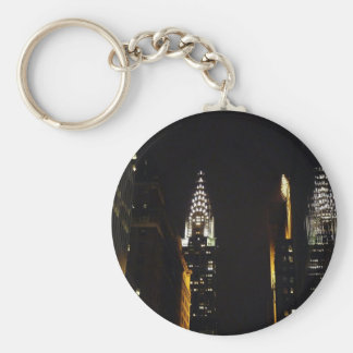The Chrysler Building at Night, New York City Keychains