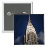The Chrysler Building, New York City 2 Inch Square Button