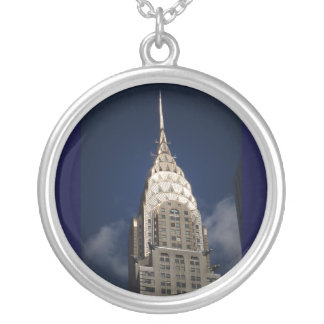 The Chrysler Building, New York City Silver Plated Necklace