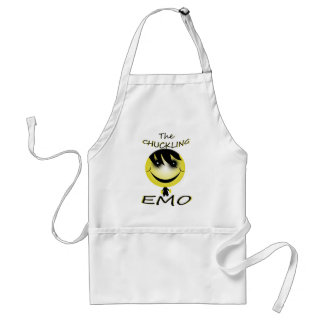 the chuckling emo adult apron