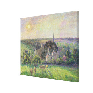 The Church and Farm of Eragny, 1895 Canvas Print