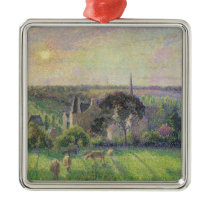 The Church and Farm of Eragny, 1895 Metal Ornament