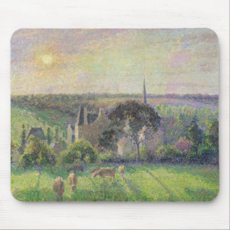 The Church and Farm of Eragny, 1895 Mouse Pad