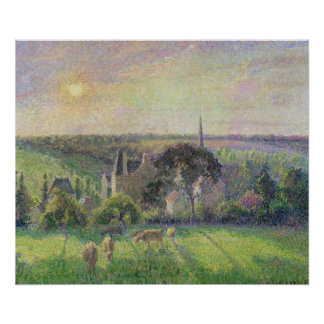 The Church and Farm of Eragny, 1895 Poster