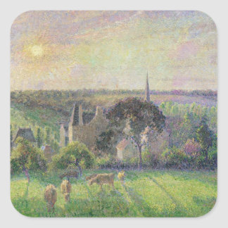 The Church and Farm of Eragny, 1895 Square Sticker