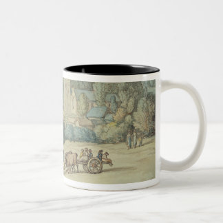 The Church and Village of St. Cue, Cornwall, c.181 Two-Tone Coffee Mug