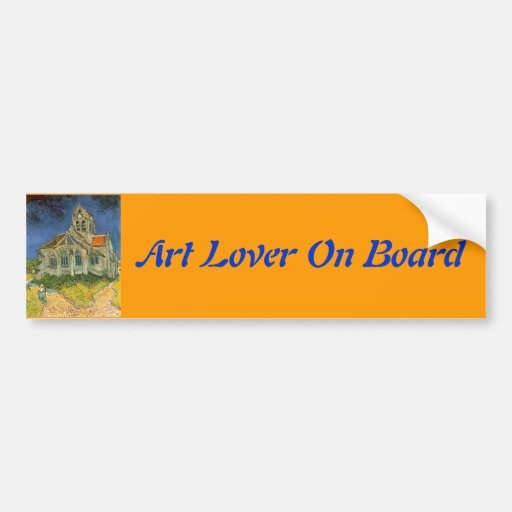 The Church at Auver by Vincent Van Gogh Bumper Sticker