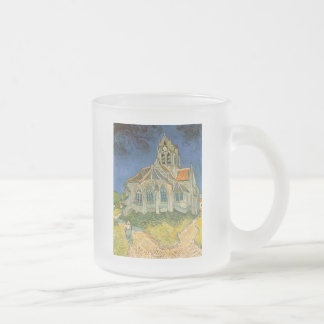 The Church at Auver by Vincent Van Gogh 10 Oz Frosted Glass Coffee Mug