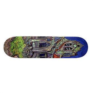 The Church At Auvers By Vincent Van Gogh 1890 Skateboard at Zazzle