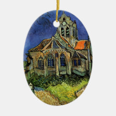 The Church At Auvers By Vincent Van Gogh Ceramic Ornament at Zazzle