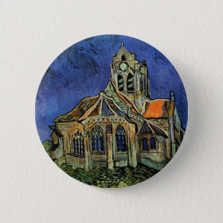 The Church at Auvers by Vincent van Gogh Pinback Button