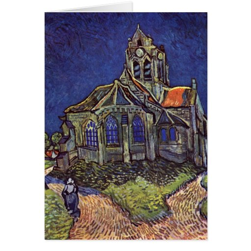 The Church At Auvers-Sur-Oise By Vincent Van Gogh Greeting Card