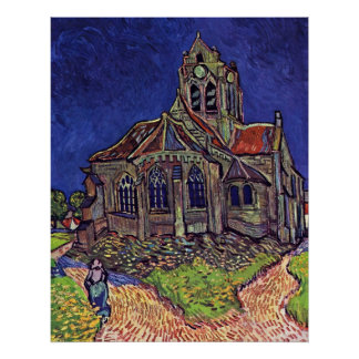 The Church at Auvers-sur-Oise by Vincent van Gogh Poster