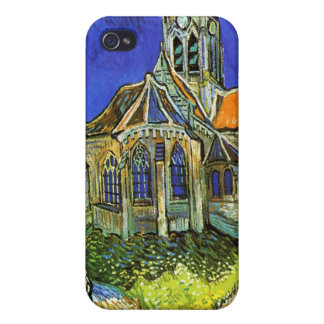 The Church at Auvers, Van Gogh Cases For iPhone 4