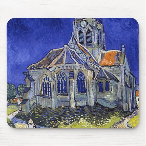 The Church at Auvers, Van Gogh Mouse Pad