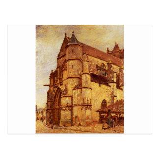 The Church at Moret, Rainy Morning Alfred Sisley Postcard