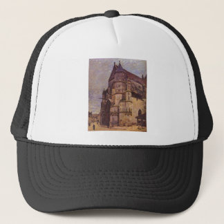 The Church at Moret, Winter by Alfred Sisley Trucker Hat