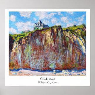 The Church at Varengeville, 1882 Claude Monet cool Poster